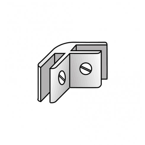 Panel connector: 2 way (brushed steel)