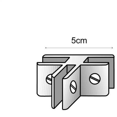 Panel connector: 3 way (storage cube system)