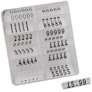 Pricing pack: 10mm black/transparent (price cubes - pricing systems)