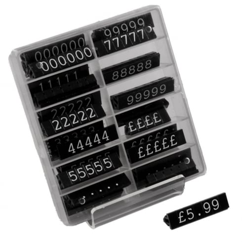 Pricing pack: 10mm white/black (price cubes - pricing systems)