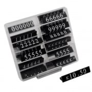 Pricing pack: 15mm white/black (price cubes - pricing systems)