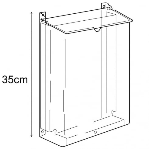 Protected A5 leaflet holder-wall (leaflet & brochure holders)
