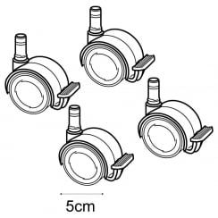 Set of castors for B89000 (point of sale accessories)