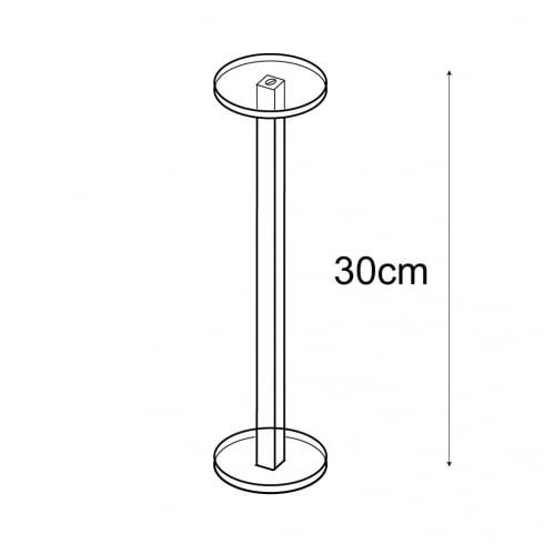 Shelf stand 1 round shelf (decorative shelves)