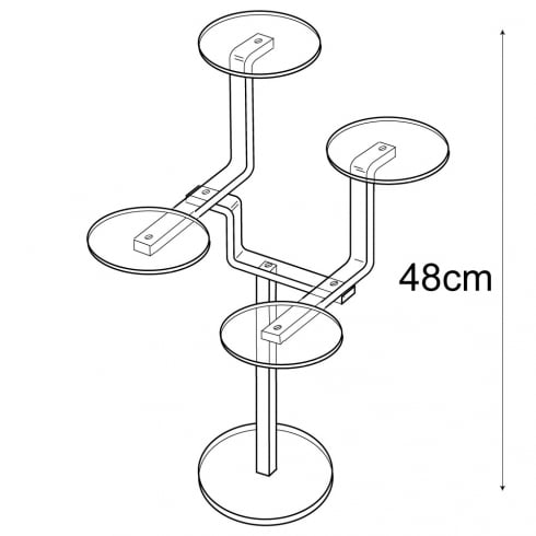 Shelf stand 4 round shelf (decorative shelves)
