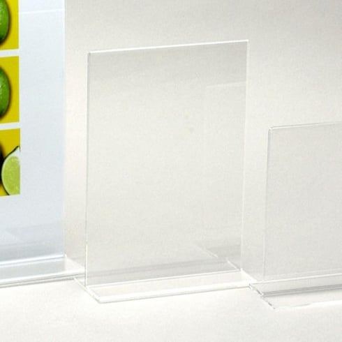Sign holder-counter: vertical