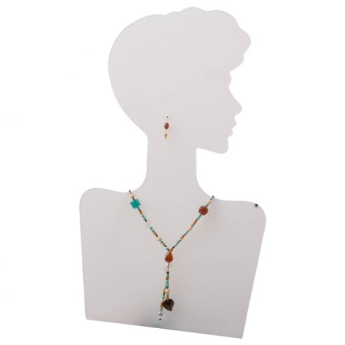 Silhouette head: right facing (jewellery & fashion display)