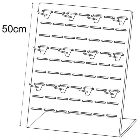 Slotted display panel +12x H57100 (acrylic display stands & POS)