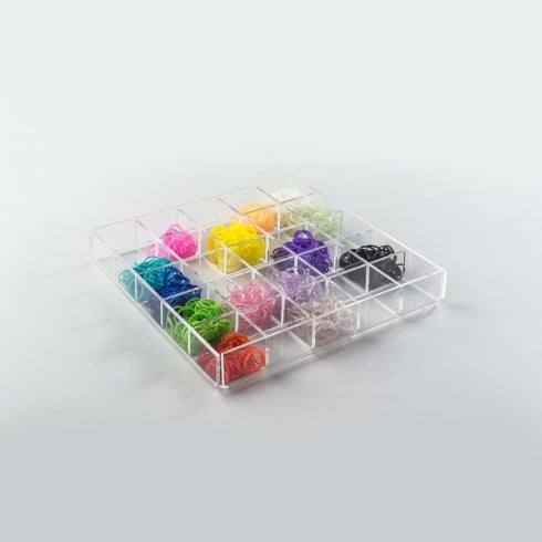 Small divided tray: fixed dividers