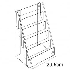 Standard card display-counter/wall (greetings card display stand)