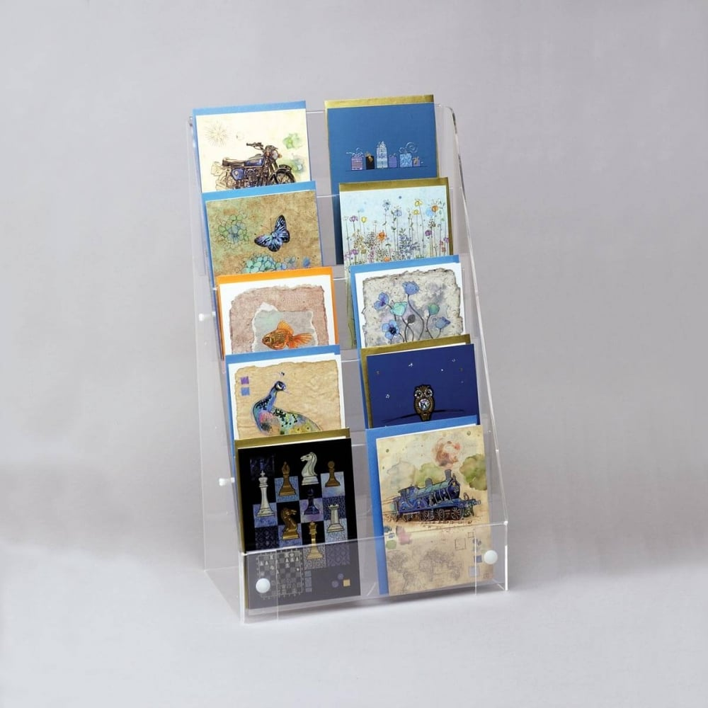 stock guide display in rhodes photo and postcards postcard rack books greece