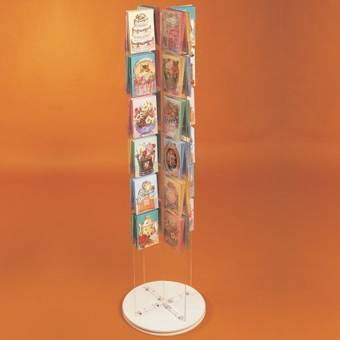 Standard card spinner-assembled (greetings card display stand)