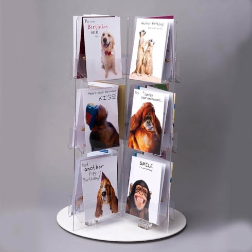 Standard card spinner-counter (greetings card display stand)