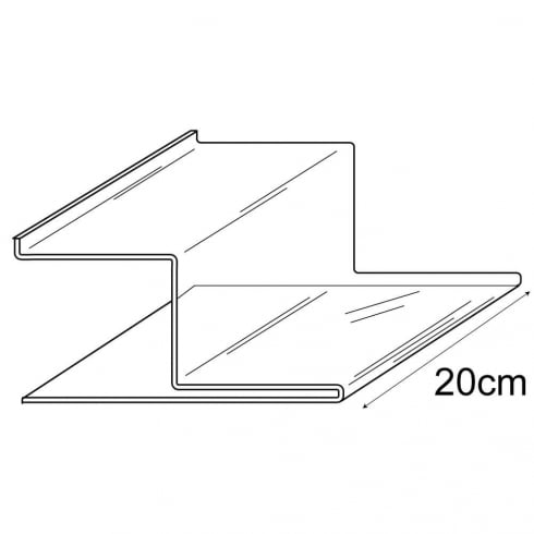 Stepped shelf-slatwall (slatwall acrylic shelf)