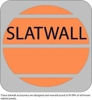 This item is suitable for slatwall