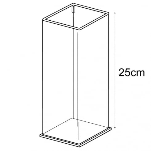 Tall square tub (acrylic tubs & containers)