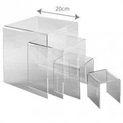 Three sided stand set (acrylic display stands)