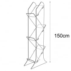 Tiered brochure holder-floor (brochure holder)