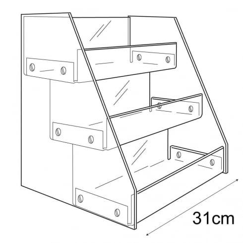 Tiered tray (tiered acrylic tray)