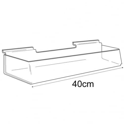 Trough-slatwall (trays & tubs for slatwall)